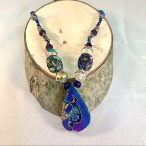Jewelry - Moody Metallic Druzy Necklace